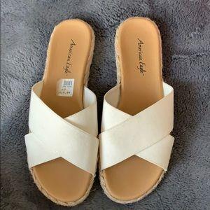 American Eagle White Sandals